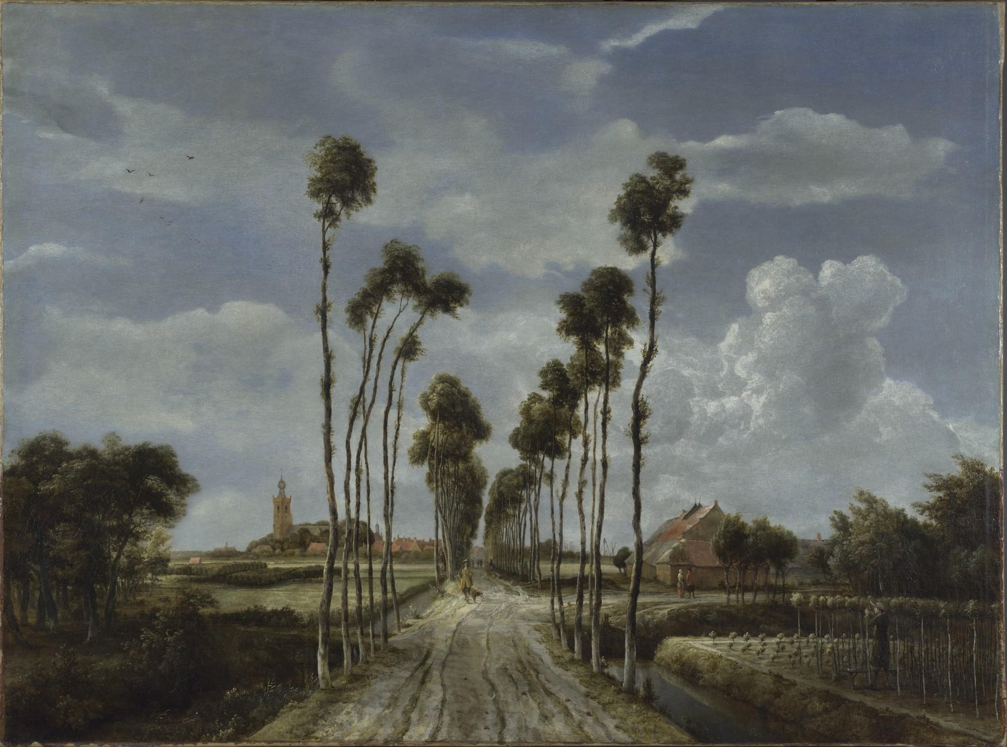 Meindert Hobbema - The Avenue at Middelharnis 1689