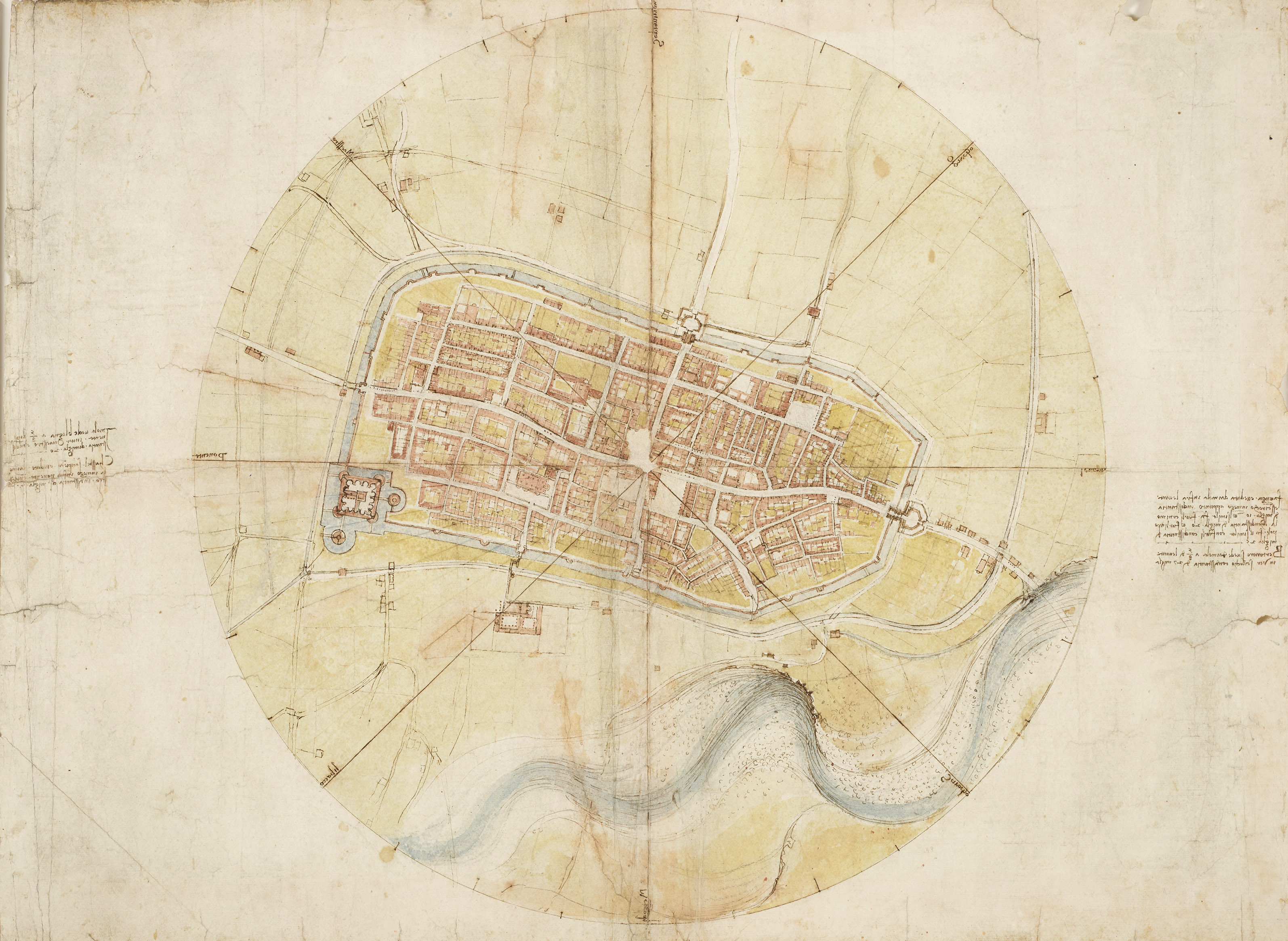 Leonardo da Vinci, A map of Imola, 1502.