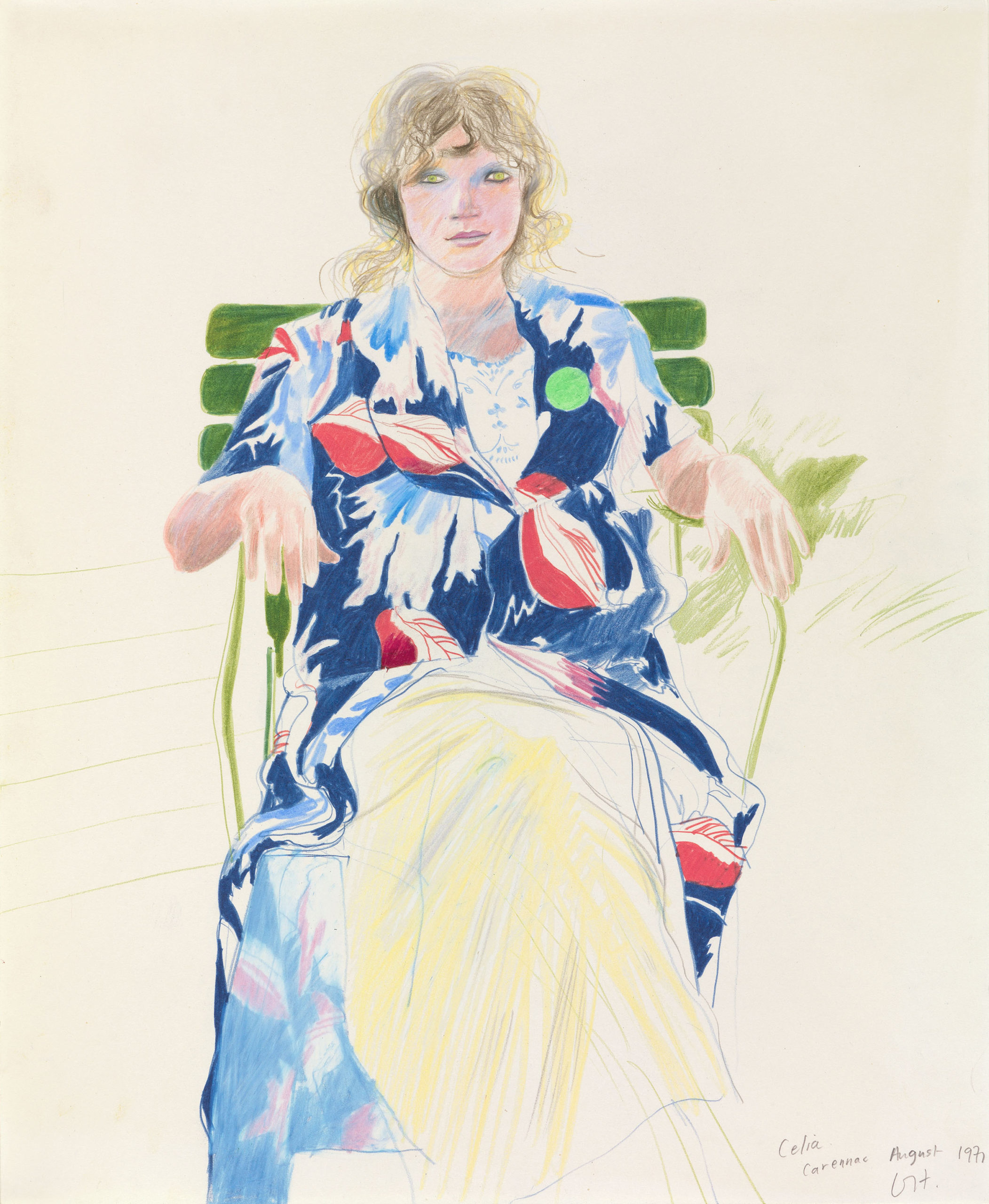 David Hockney - Celia, Carennac, August 1971