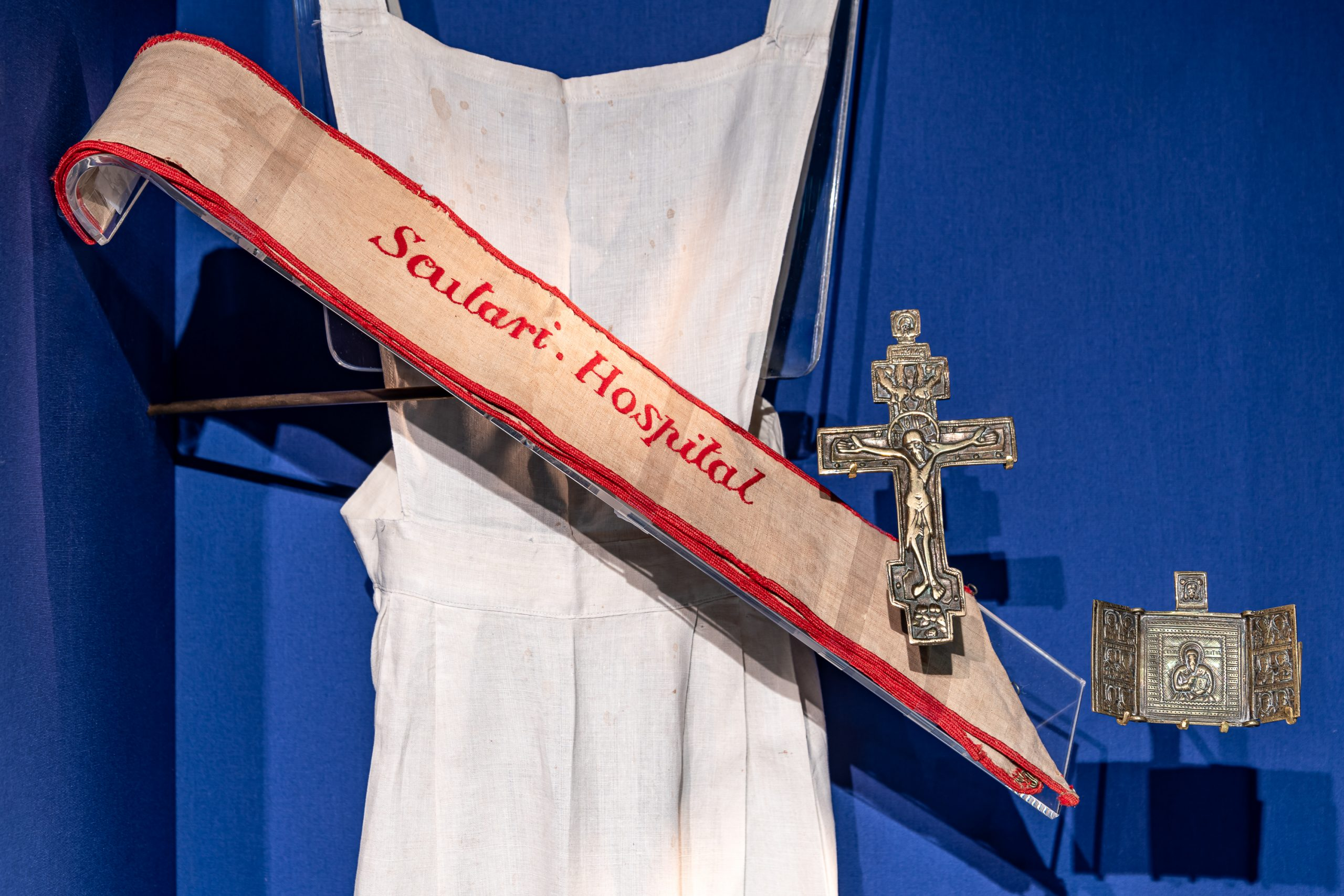 The Scutari uniform apron and sash designed by Florence Nightingale