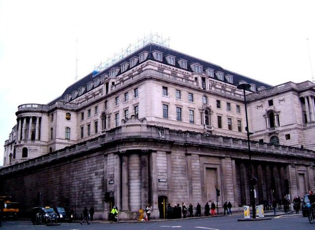 Sir Herbert Baker's Bank inside Sir John Soane's curtain wall, from the Mansion House
