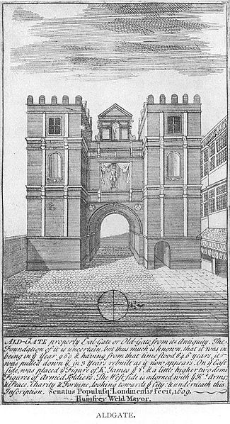 The Aldgate in a print of 1600