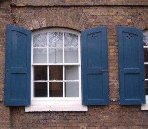 Outer and inner shutters on St John's School