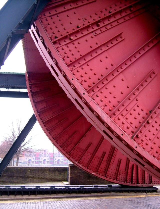 Bascule Bridge at the entrance of Shadwell Basin