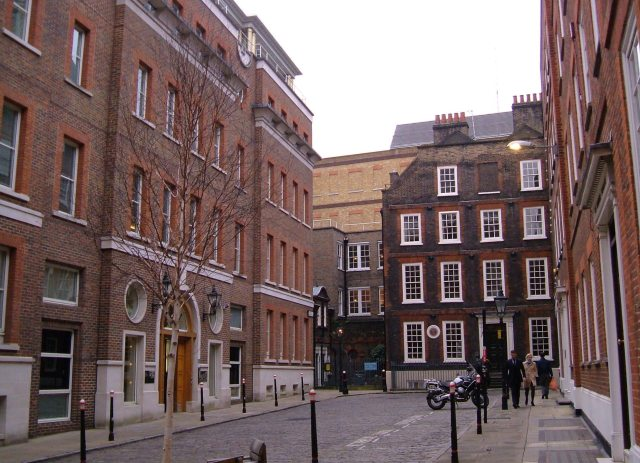 Samuel Johnson's house at the far end of Gough Square