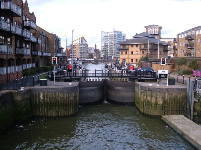 The lock at the Limehouse basin
