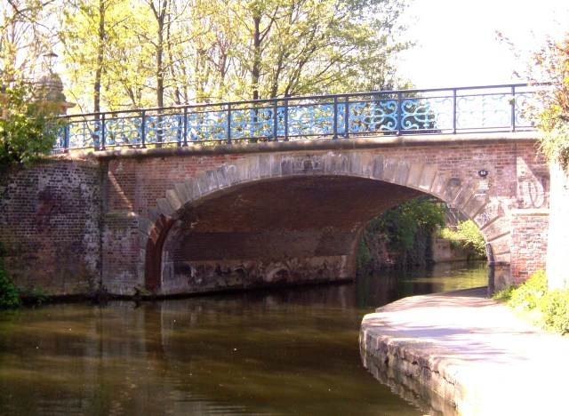 The iron bridge of 'light and delicate construction' at the Bonner Gate, crossing the Regent's Canal