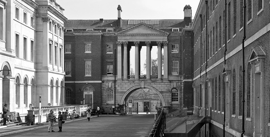 The quadrangle between the College and the East Wing of Somerset House, now part of the University
