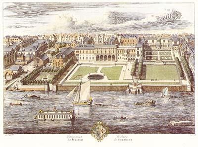 Somerset House by Kip, 1722