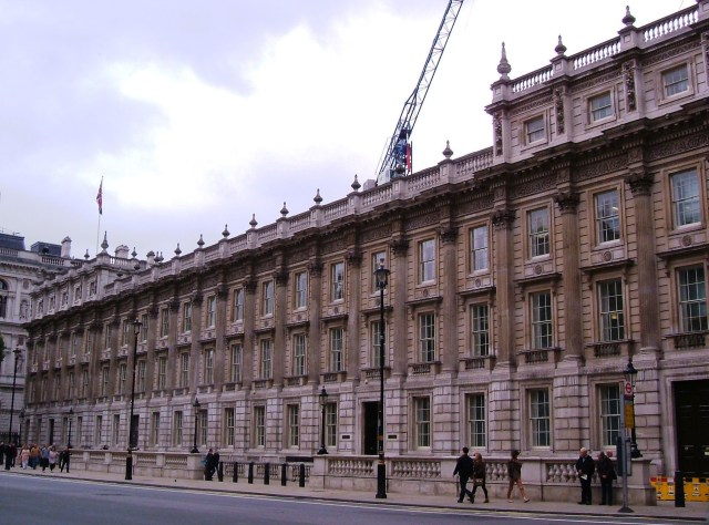 The Treasury buildings on Whitehall