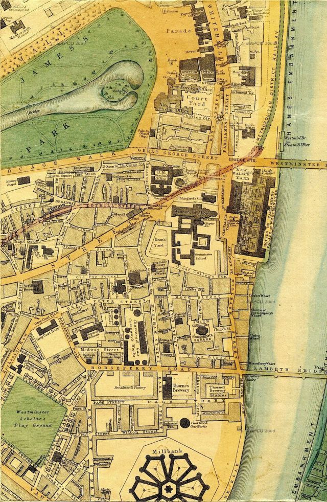 Westminster map, 1868