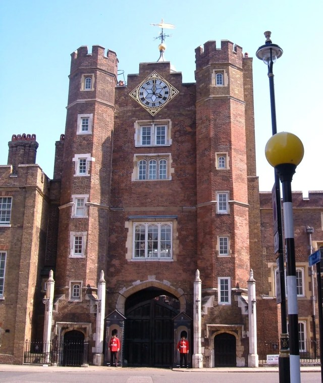 The original gatehouse of Henry VII's palace at St James'