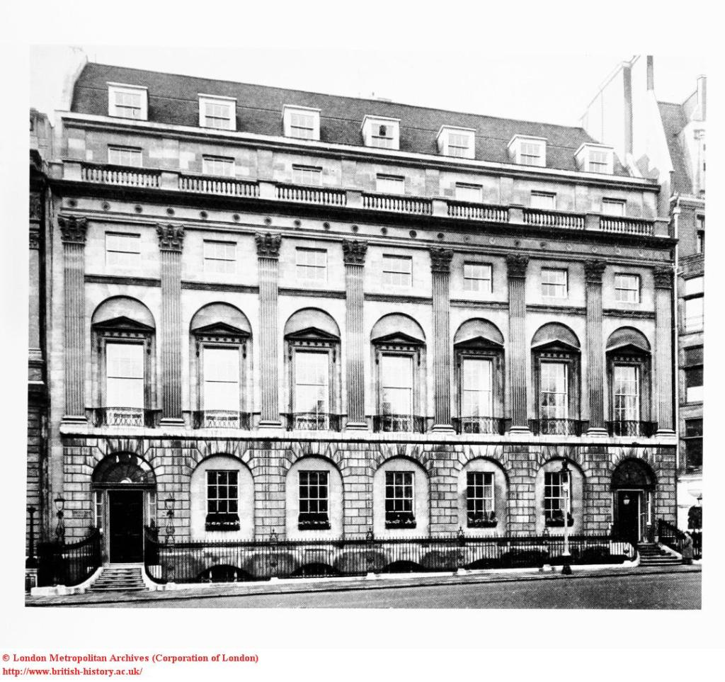 no.20-21 st james square, with three bays on right by Robert Adams, 1771-75