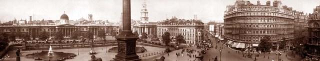 The original fountains in Trafalgar Square, 1908