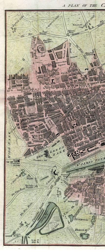 Berkeley Square in 1767, unknown engraver, Mapco