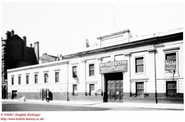Aldridge's Horse Repository, exterior in 1955, in Upper St Marin's Lane