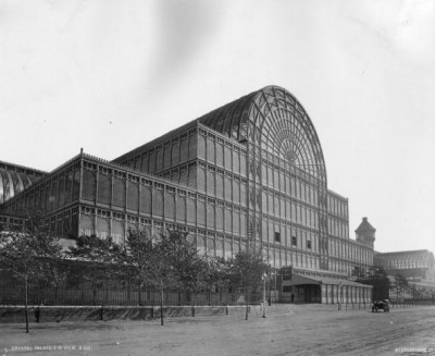 The Crystal Palace in c.1888 after reconstruction in Sydenham