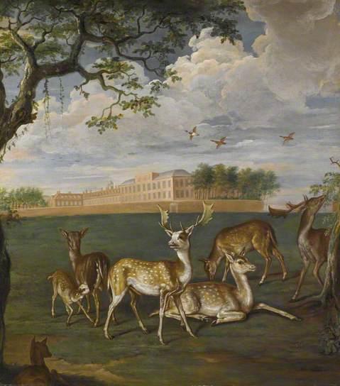 Deer in Hyde Park, 1695