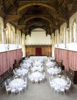 The Great Hall set up for dinner (English Heritage photograph)