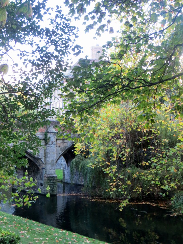 The 15C bridge over the moat at Eltham Palace