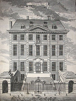 Newcastle House in 1754