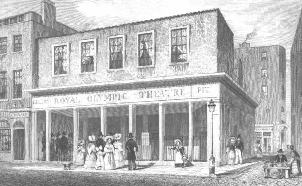 Royal Olympic Theatre, Drury Lane, 1831
