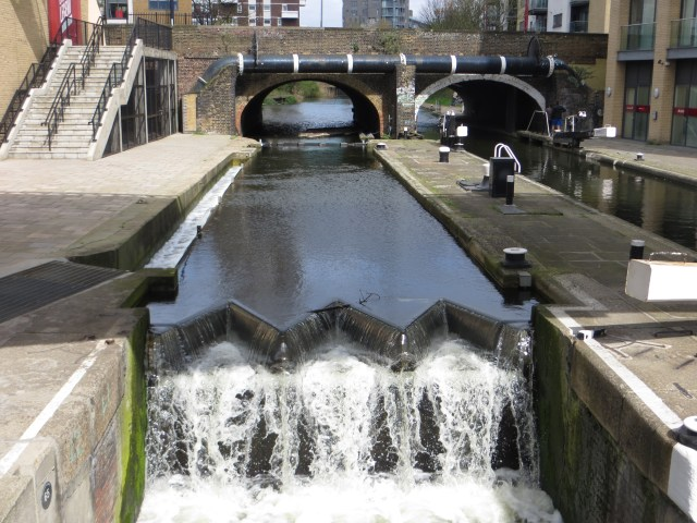 The Regent's Canal entry/exit to the Limehouse Basin