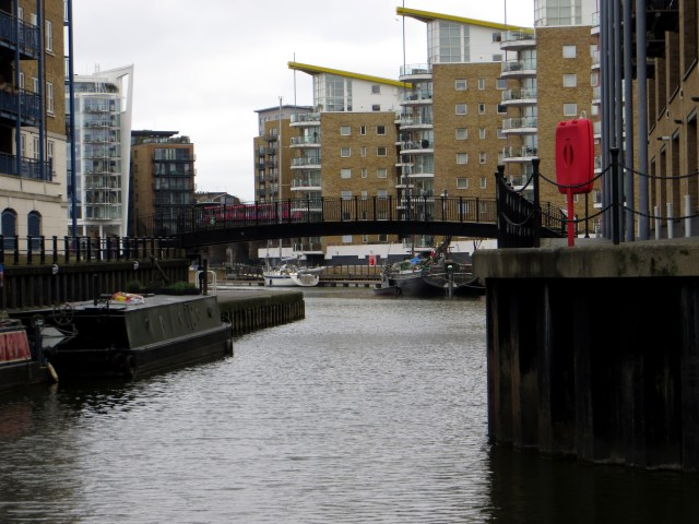 The Limehouse Cut entrance to the Limehouse Basin