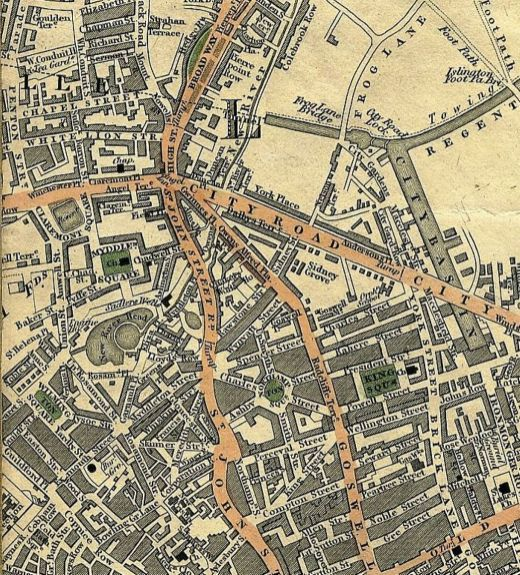 Cruchley's New Plan of London, 1827, Mapco