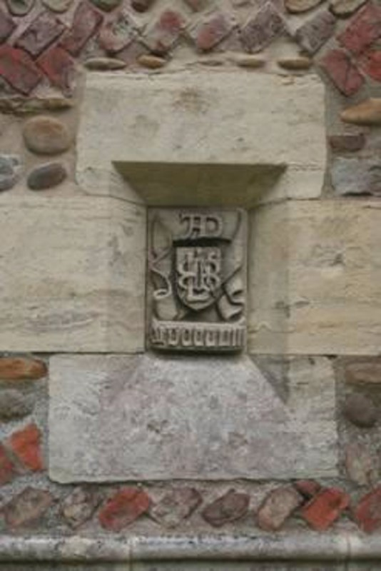 Edward Buckton Lamb monogram on St Stephen Aldwark