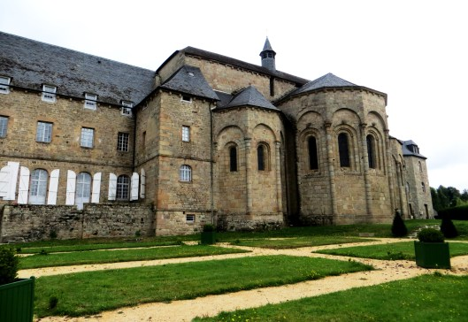 The rear of the church, with the site of the garden