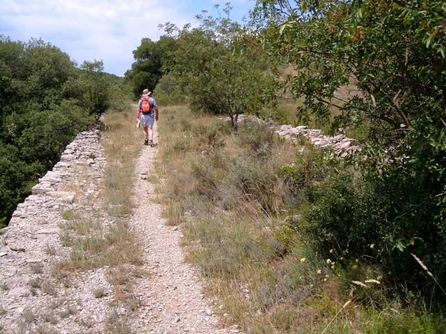 The Roman Road outside St Hippolyte du Fort