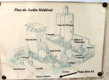 Plan of the Mediaeval Garden