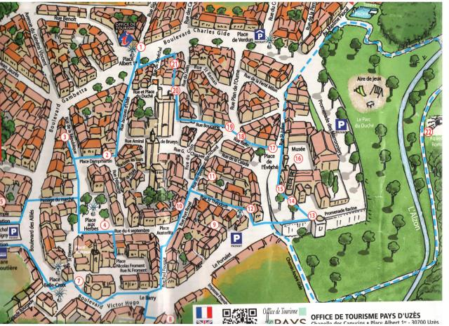 Map of Uzes