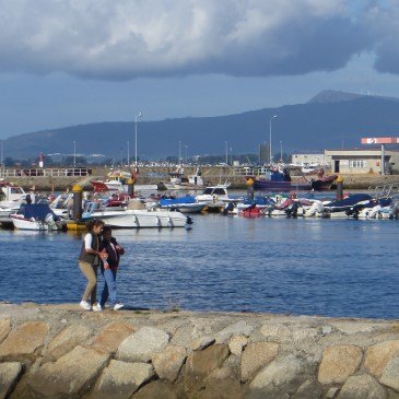 Travel in Spain, Boats in Cambados Harbour