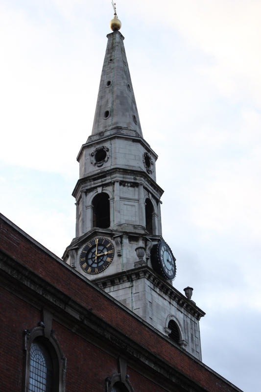 The Church of St George the Martyr, with one black clockface