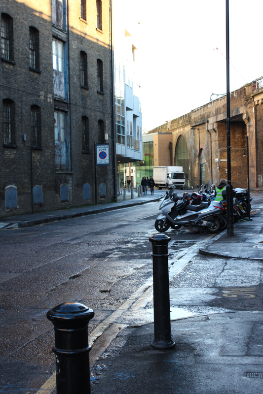 Great Suffolk Street, looking towards the curve under the railway arch into Surrey Row