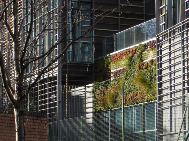 Vertical garden in Paris Gardens
