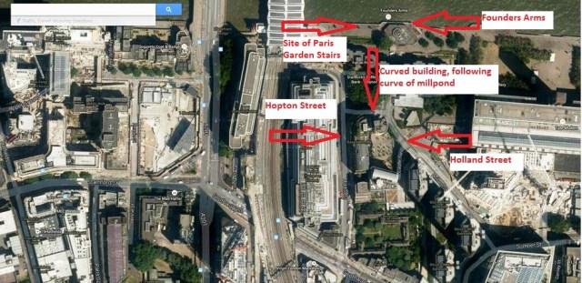Hopton Street & Holland Street (Google maps)
