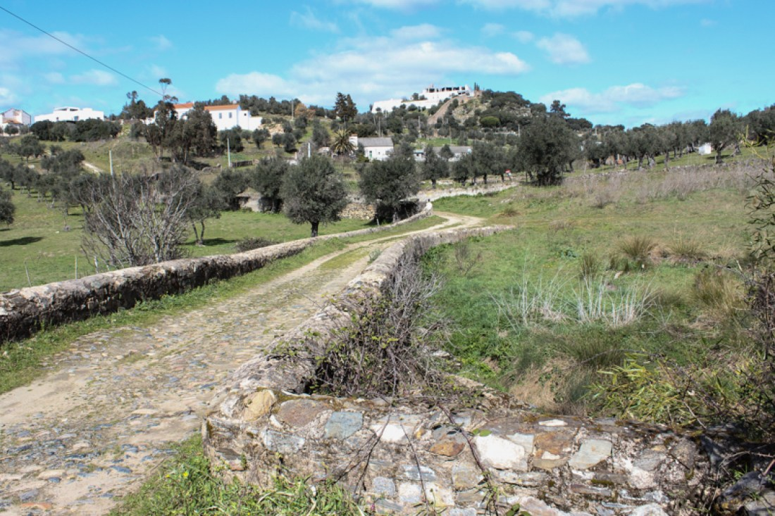 The roman road from the Bridge of Chocanal to Crato