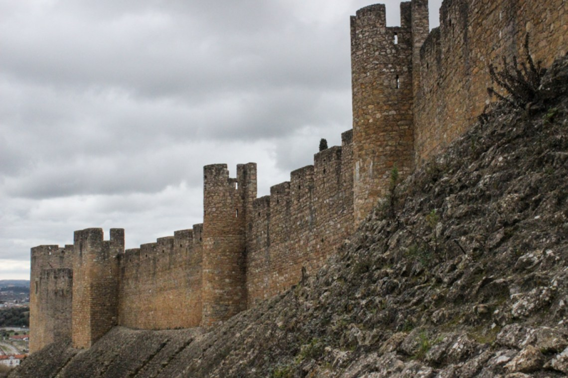 The walls of the Castle, Tomar