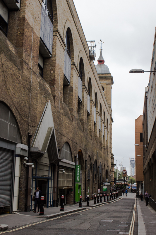 Looking down Cousin Lane towards Cannon Street Bridge