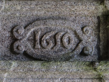 Date carved in the porch