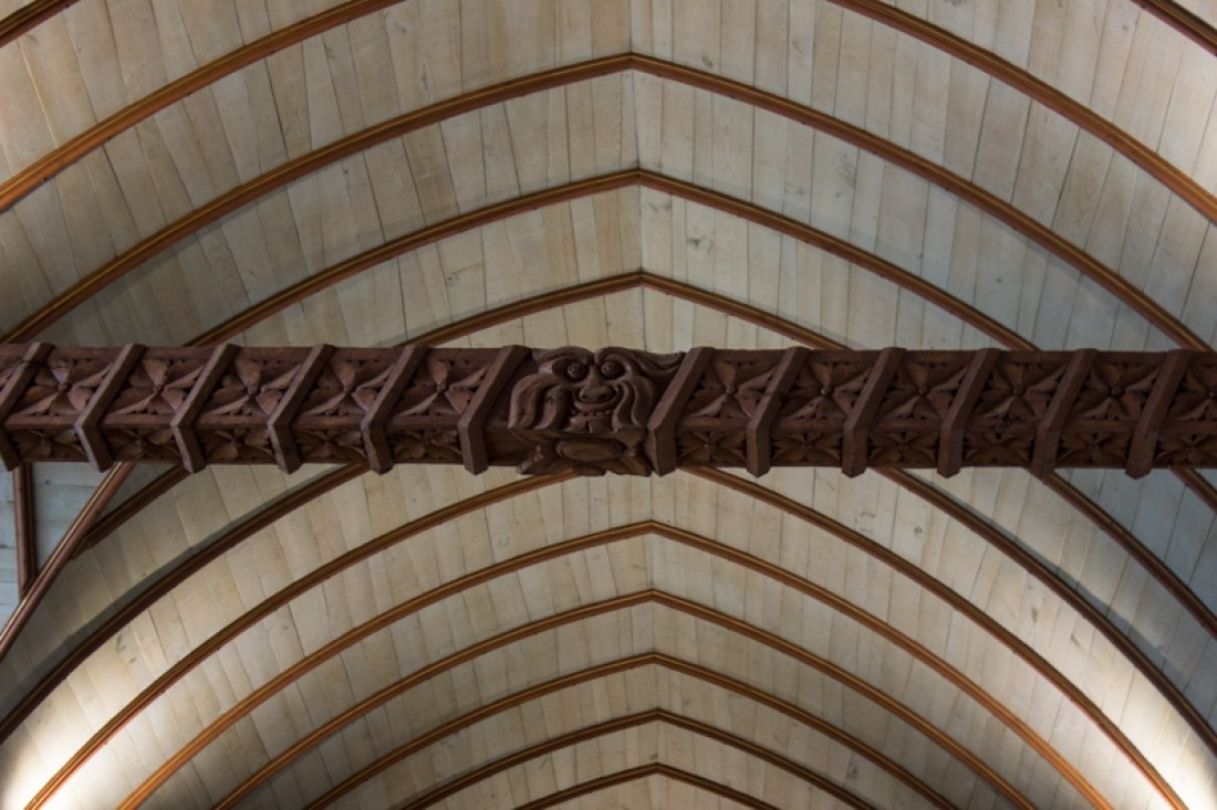 Carved beams, Lampaul-Guimiliau