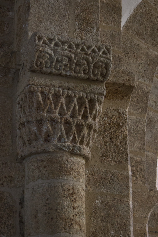 Carved columns in the Church at Le Relecq