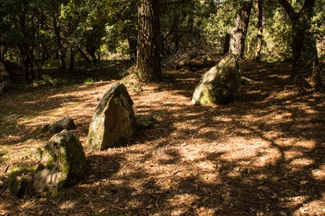 The stone circule around the Tumulus of Kercado, Carnac