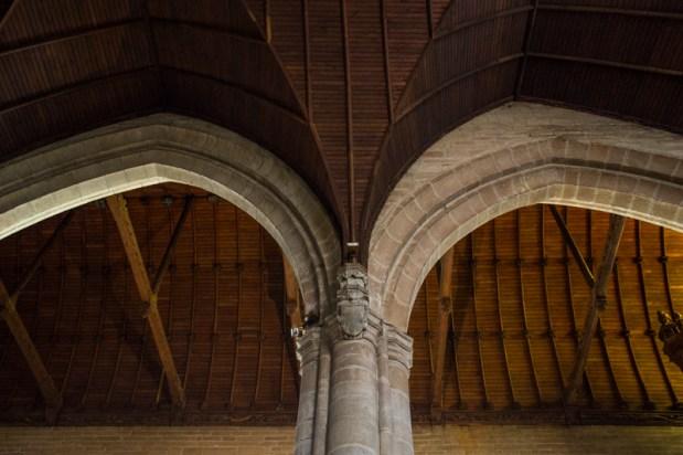 The interior of Notre Dame du Roncier, Josselin