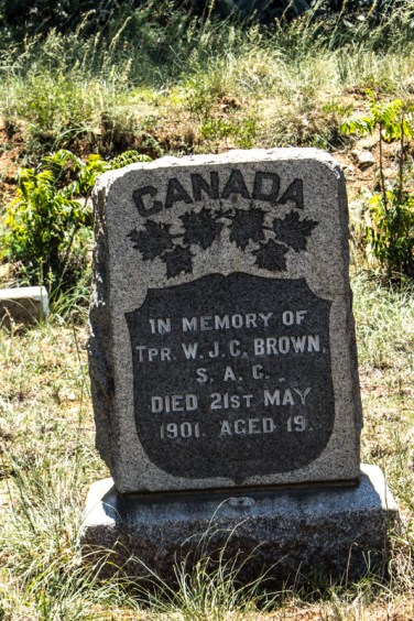 Canadian grave in President Brand Cemetery