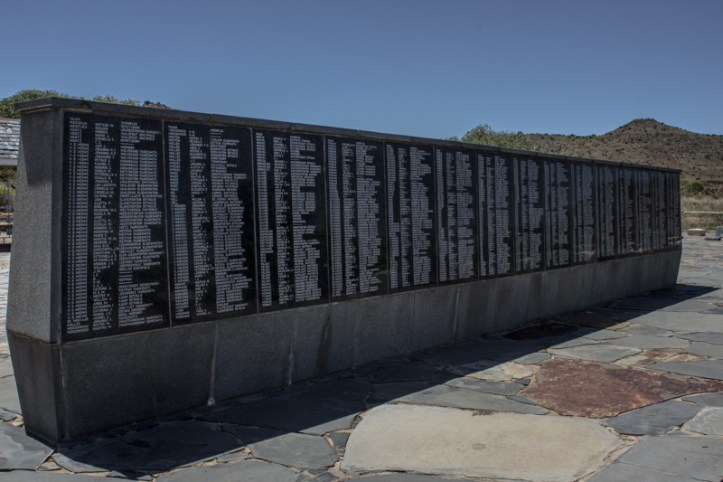 The Wall of Remembrance, Bethulie Concentration Camp Graveyard