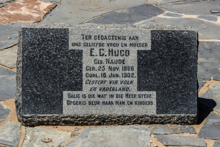 'In memory of our beloved wife & mother, E G Hugo', 36 years old